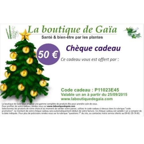 Cheque cadeau 50euros