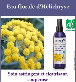 eau florale helichryse
