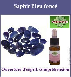 Saphir bleu fonce
